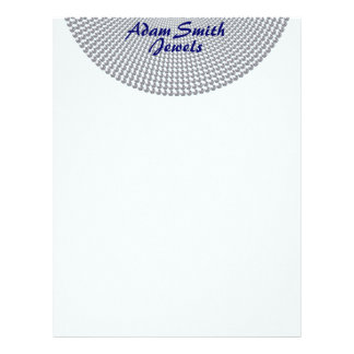 Silver Circles On Pale Blue Letterhead Template