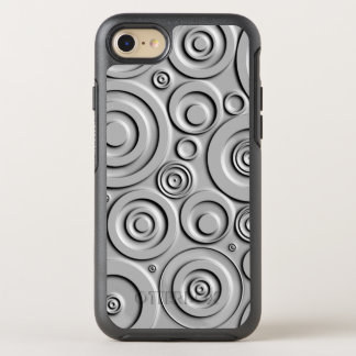 Silver Circles OtterBox Symmetry iPhone 7 Case