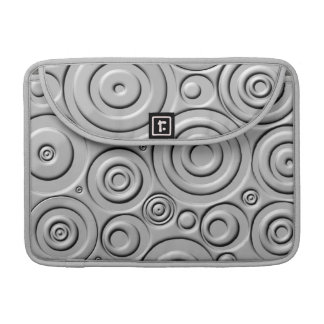 Silver Circles Sleeve For MacBook Pro