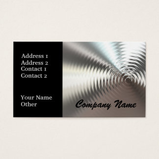 Silver Circular Metal Design Business Cards
