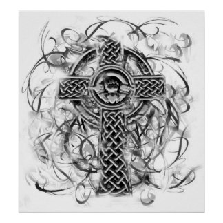 Silver Claddagh Cross Sarah Doherty 2008 Poster