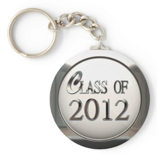 Silver Class Of 2012 Keychain