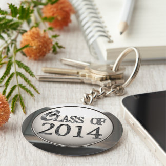 Silver Class Of 2014 Keychain