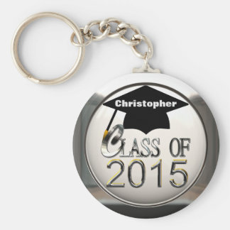 Silver Class Of 2015 Key Chain