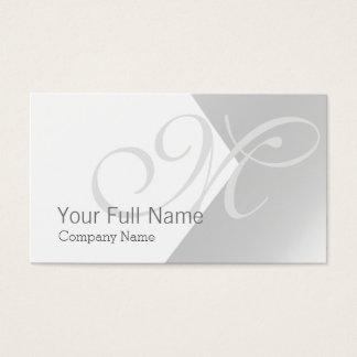 SILVER CLASSIC METAL ELEGANT WHITE WEDDING NUPTIAL BUSINESS CARD
