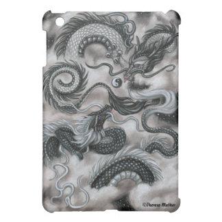 Silver Cloud Eastern Dragons iPad Case