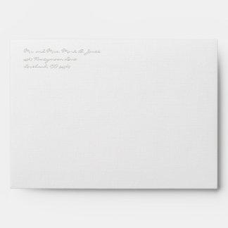 Silver Cloud Gray Damask Wedding Envelopes