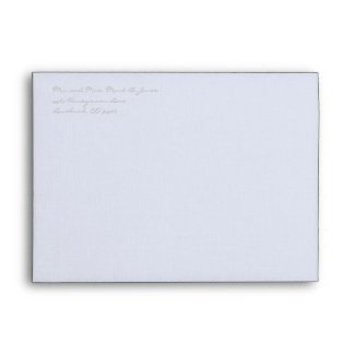 Silver Cloud Gray Wedding Envelopes envelope