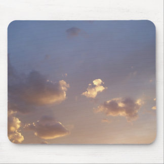 silver clouds mouse pad