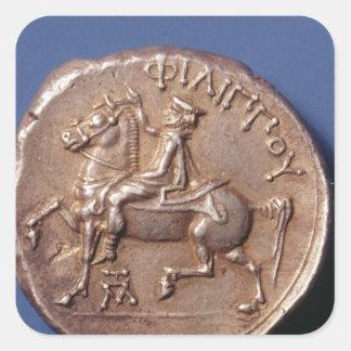 Silver coin of Philip II of Macedon Square Sticker