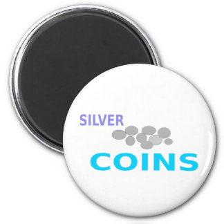 silver coins magnet