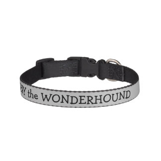 Silver Color Dog Collar w/Black Text