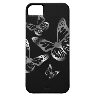 Silver colored butterflies flying iPhone SE/5/5s case