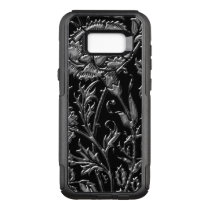 Silver Colored Floral Pattern OtterBox Commuter Samsung Galaxy S8  Case