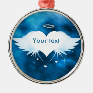 Silver colored metal ornament - Angel of the Heart