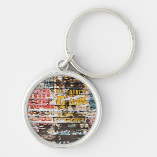 Silver-Colored ROUND KEYCHAIN
