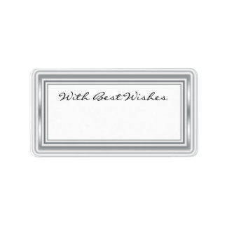 Silver Coloured Gift Tags - Best wishes Address Label
