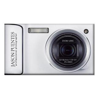 Silver Compact Digital Camera Photographer Business Card