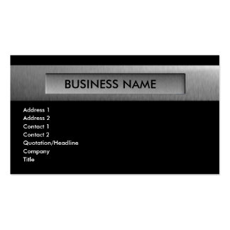 silver_company_3 Double-Sided standard business cards (Pack of 100)