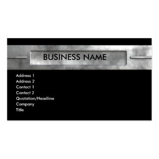 silver_company_center Double-Sided standard business cards (Pack of 100)