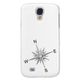 Silver Compass Points Navigation Samsung S4 Case