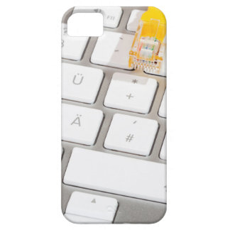 Silver computer keyboard with Network Cable iPhone 5 Cases