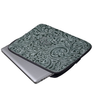 silver computer sleeve