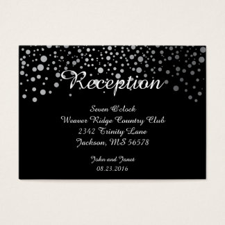 Silver Confetti Dots | DIY Background Colors Business Card