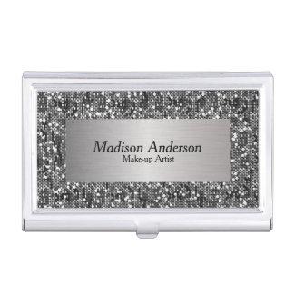 Silver Confetti Glitter Print | DIY Name Business Card Case
