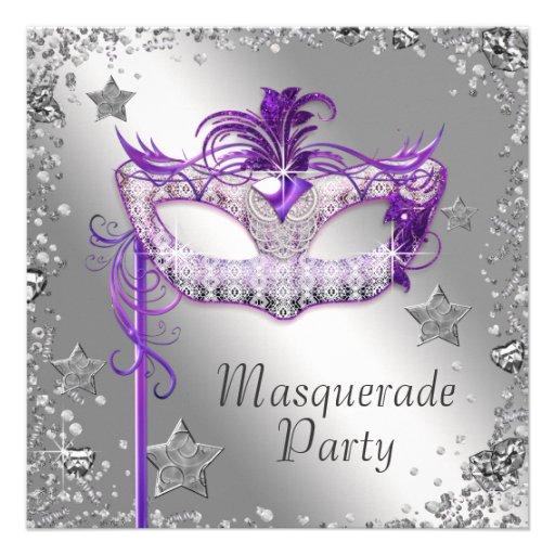 Personalized Elegant masquerade party Invitations – Masquerade Party Invitation Template