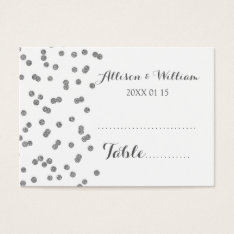 Silver Confetti Table Place Setting Cards at Zazzle