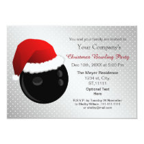 silver Corporate holiday Bowling party Invite