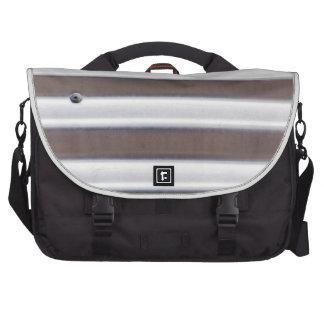 Silver Corrugated Sheet Metal Laptop Bags