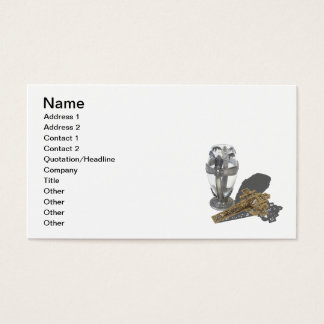 Silver Cross Chalice Crucifix Business Card