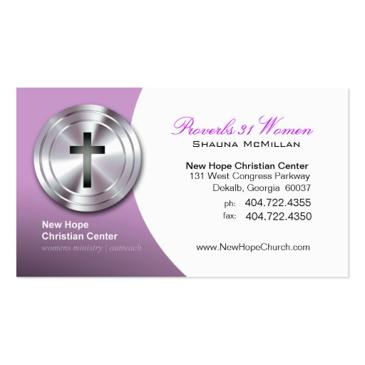 Minister business card templates bizcardstudio silver cross christian symbol ministerpastor business cards colourmoves
