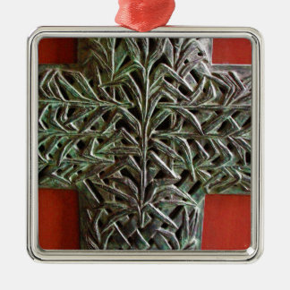 Silver Cross-country race Metal Ornament