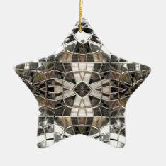 Silver Cross Mosaic Star Ornament at Zazzle