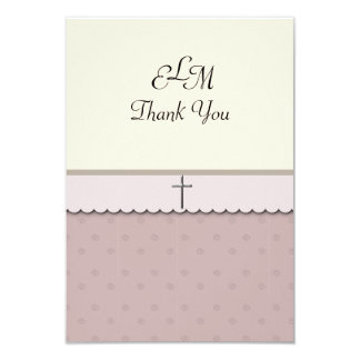 Silver Cross Thank You Card Personalized Invites