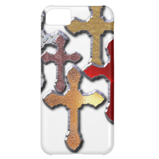 Silver Crosses Collage Various Designs iPhone 5C Cases