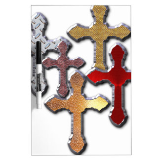 Silver Crosses Collage Various Designs Dry Erase Boards
