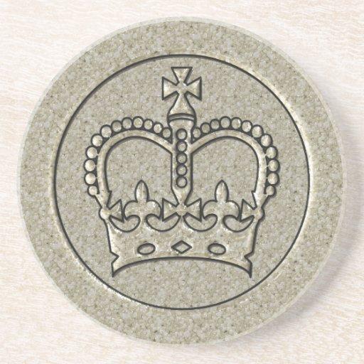 Silver Crown Beverage Coasters