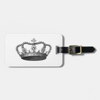 Silver Crown Gift Item You Personalize Bag Tag
