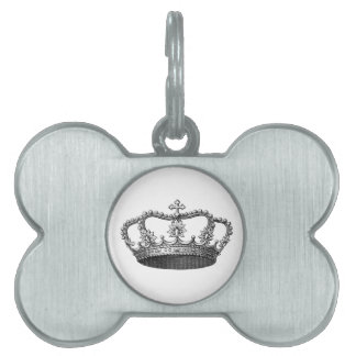 Silver Crown Gift Item You Personalize Pet ID Tag