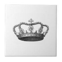 Silver Crown Gift Item You Personalize Tile