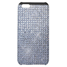 Silver Crystal Case For iPhone 5C
