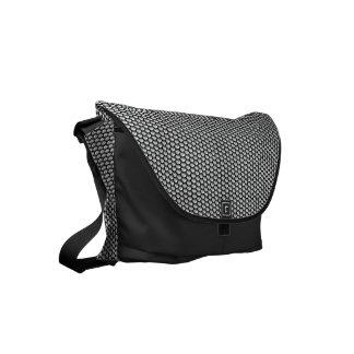 Silver crystal sequins small messenger bag