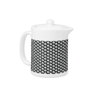 Silver crystal sequins teapot