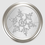 Silver Crystal Snowflake Envelope Seal Sticker