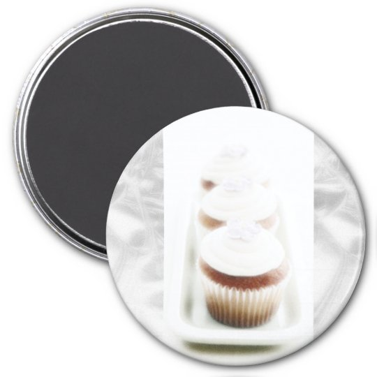 Silver Cupcake Swirl Magnets