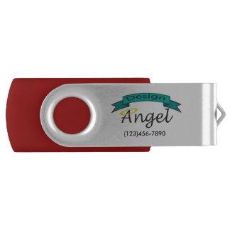 Silver Custom Company Logo Branded USB Drive